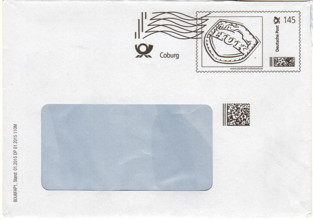 HUK Coburg 145 ct, Umschlag C5
