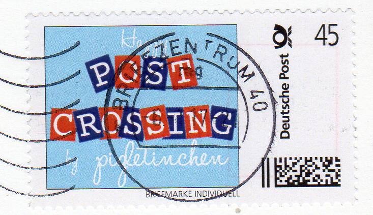 Briefmarke Individuell Postcrossing