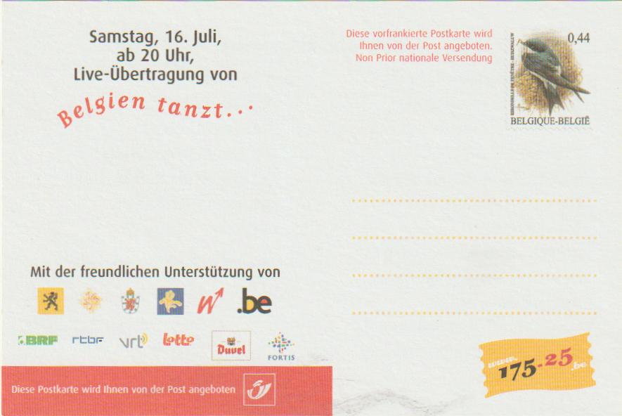 "Werbepostkarte ""Belgien tanzt..."""